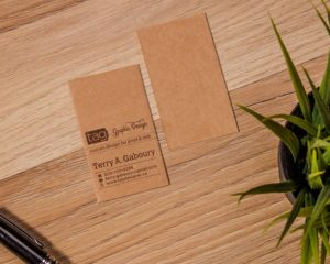 Brown Kraft Business Cards