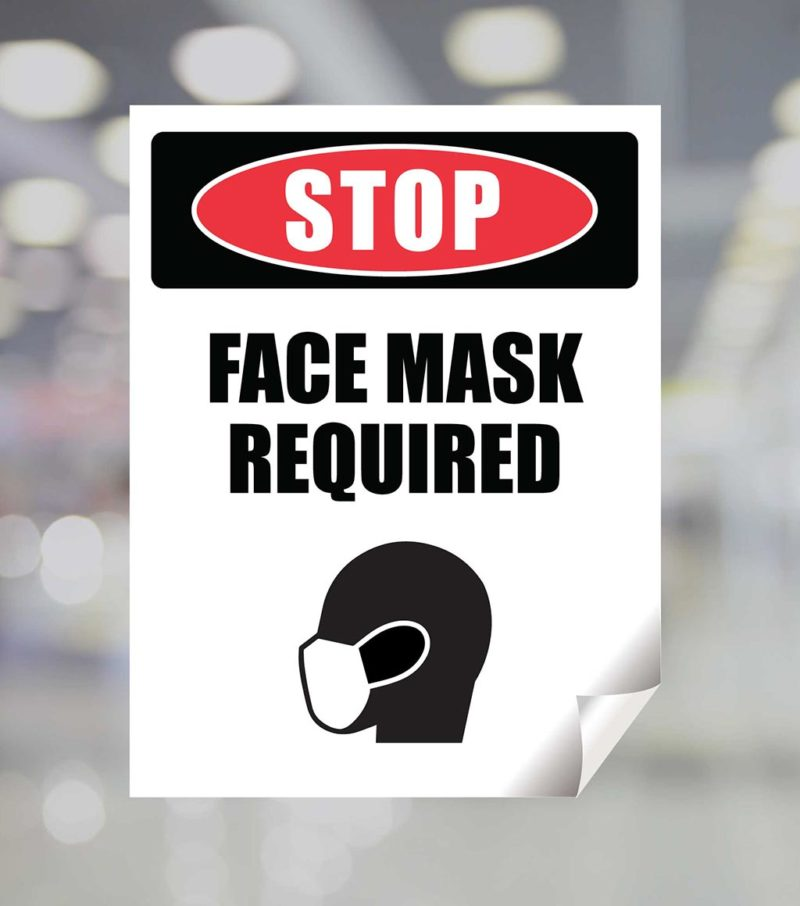 Face Mask Window Clings