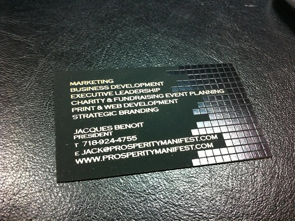 Foil Business Card 1