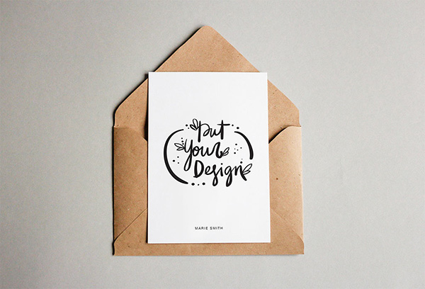 Free Postcard With Envelope Mockups Mockupworld
