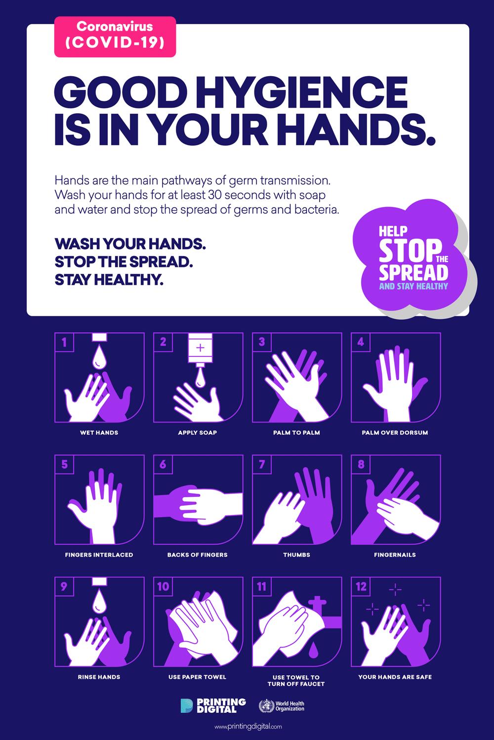 Hand Washing Poster Printing Digital