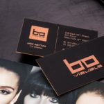 Hard Suede Business Cards
