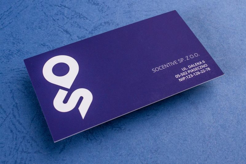 Letterpress Edge Painted Business Cards