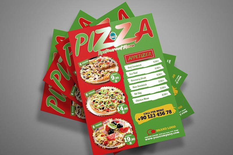Pizza Menu Printing Nyc 1