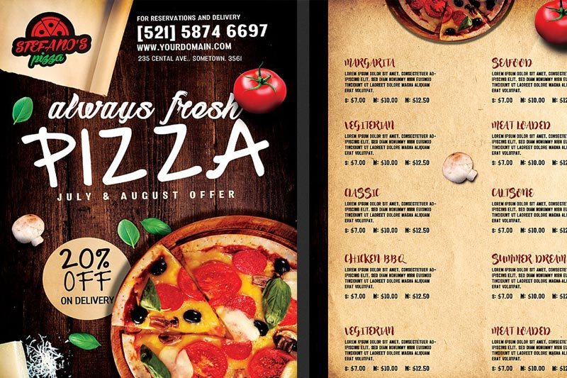 Pizza Menu Printing Nyc 2