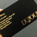 Raised Foil Business Cards 2