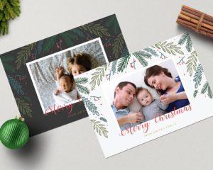 Silk Christmas Cards 1