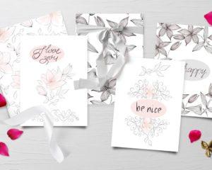 Silk Greeting Cards