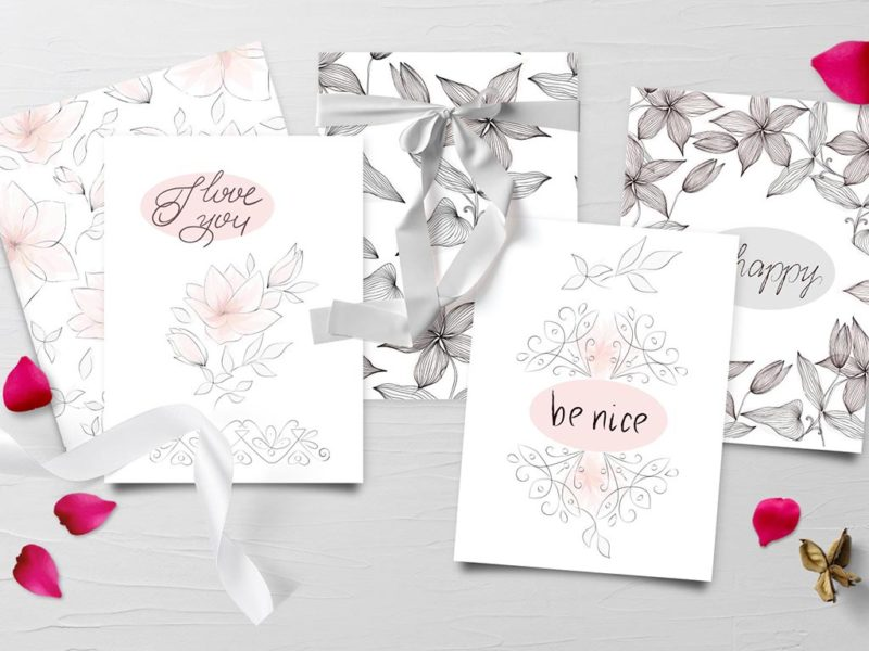 Silk Greeting Cards 1