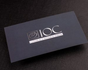 Soft Suede Business Cards