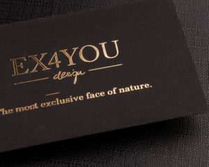 Regular Suede Business Cards