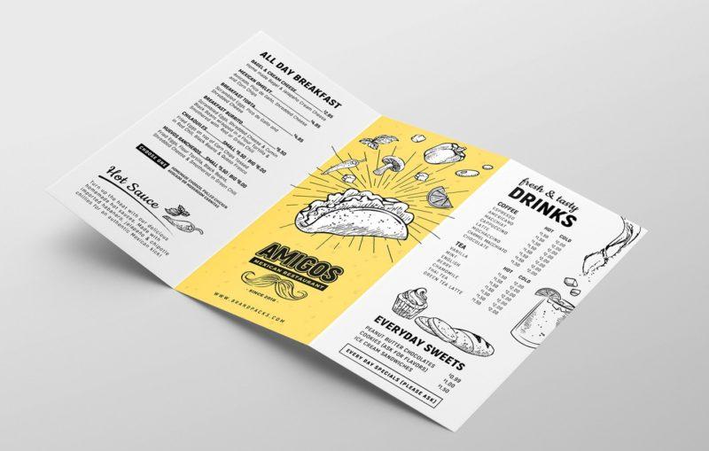 Tri Fold Menu Printing 1