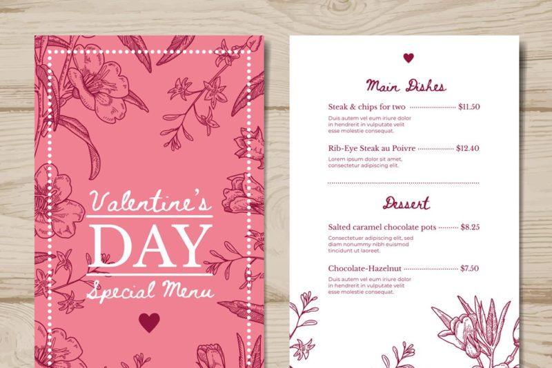 Valentines Day Menus 3